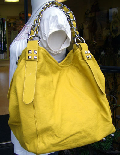 Shop Suey boutique yellow bag