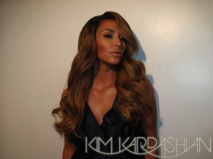 kim kardashian hair colour. Kim posted on her blog today