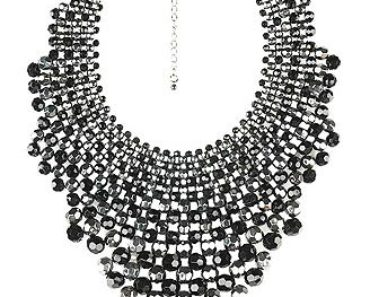 Faceted Bead Bib Necklace