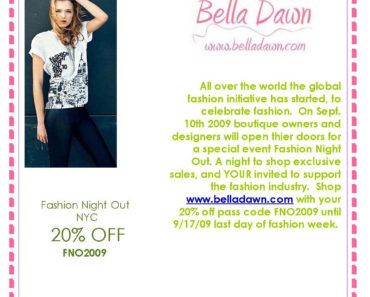 Join the In Crowd Shop Fashion Night Out at Bella Dawn