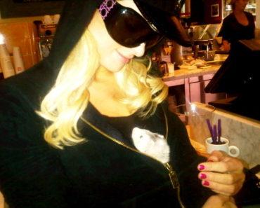 Paris Hilton and ferret
