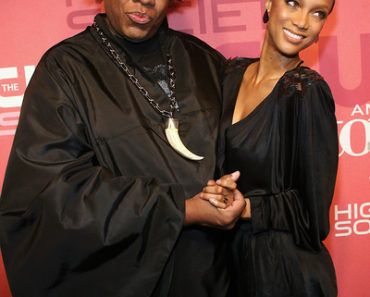 Andre Leon Talley and Tyra Banks