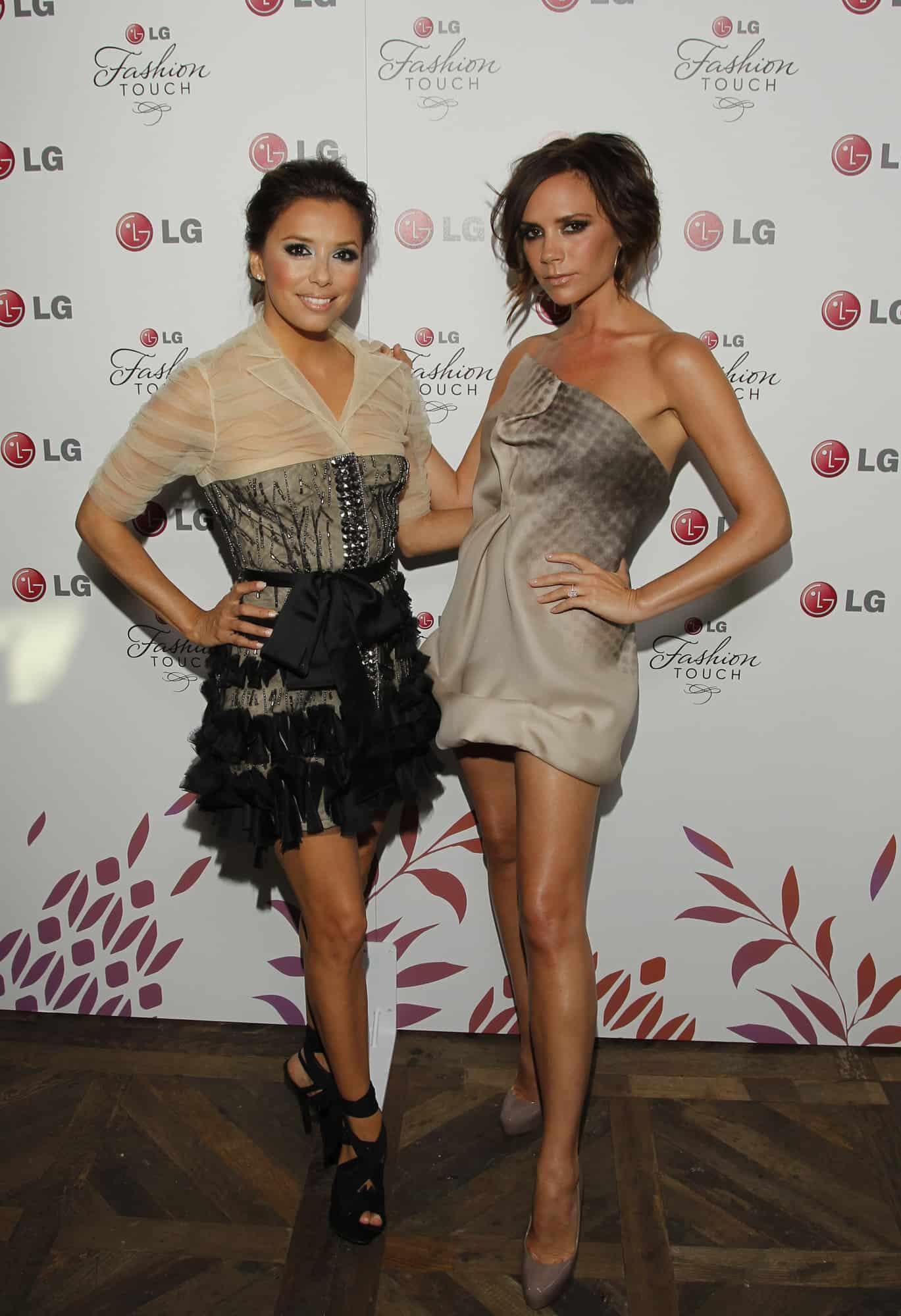 Eva Longoria Victoria Beckham Bring Style To Lg Beautelicious