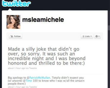 Lea Michele Apology