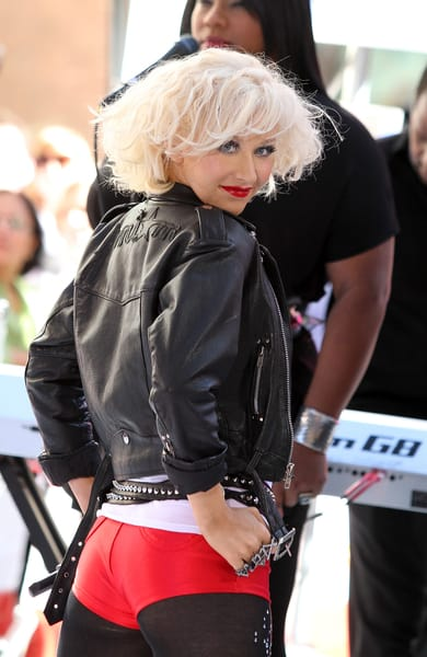 """Christina Aguilera performed for NBC's """"Today Show"""" in their"""
