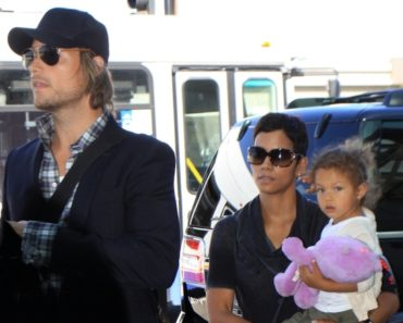 Halle Berry, Gabriel Aubry and daughter Nahla Ariela Aubry Depart From LAX For A Month Long Trip To South Africa - July 24, 2010