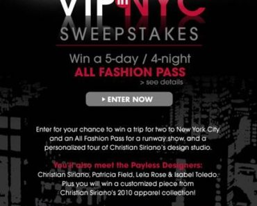 Payless VIP in NYC Sweepstakes Flyer