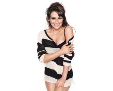 Lea Michele on Glamour Mag