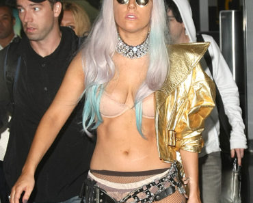 Lady GaGa Fashions Another Crazy Look As She Arrives Back In NYC