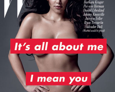Kim K on W Mag
