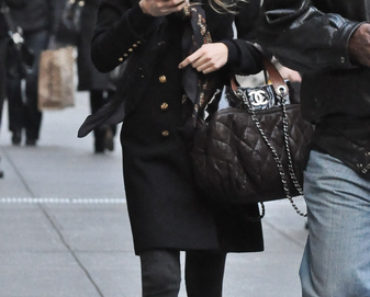 """Gossip Girl"" Filming on Madison Avenue in New York City on November 29, 2010"