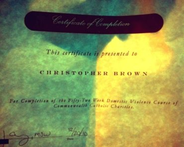 Chris Brown Certificate
