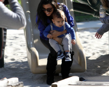Kourtney Kardashian Takes Her Son Mason Dash Disick To The Park - January 22, 2011