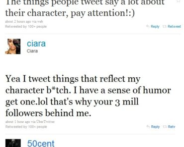 Ciara/50 Cent Twitter Battle