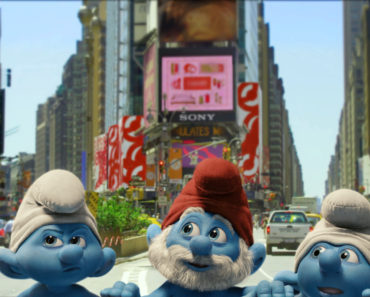 The Smurfs in Times Square