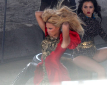 Beyonce Knowles Shoots A Music Video