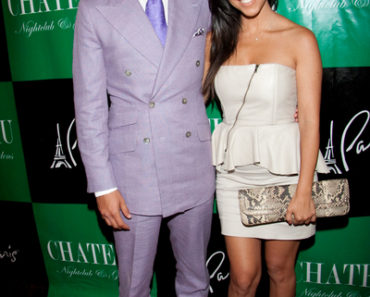 Scott Disick and Kourtney Kardashian Host the Evening at Chateau Nightclub in Las Vegas on July 2, 2011