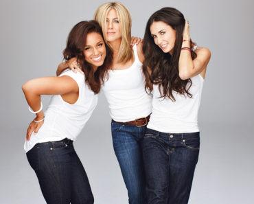 Alicia Keys, Jennifer Aniston and Demi Moore
