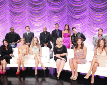 BACK ROW: RON ARTEST, DAVID ARQUETTE, J.R. MARTINEZ, TOM BERGERON, BROOKE BURKE CHARVET, ROB KARDASHIAN, CHAZ BONO;  FRONT ROW: RICKI LAKE, KRISTIN CAVALLARI, CHYNNA PHILLIPS, NANCY GRACE, HOPE SOLO, ELISABETTA CANALIS