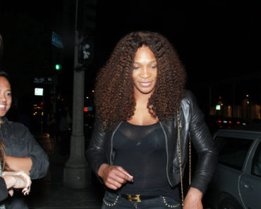 Serena Williams Sighted Departing STK Restaurant in West Hollywood on October 17, 2011