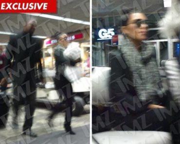 Kim K at Airport/TMZ