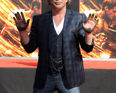 Mickey Rourke Immortalized With Hand And Footprint Ceremony At Grauman's Chinese Theatre