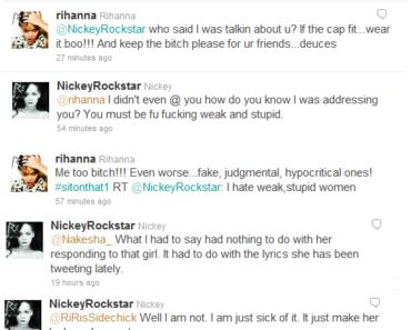 Rihanna Twitter Feud!