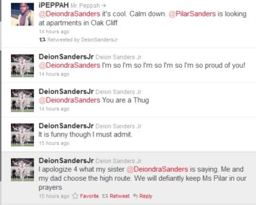 Deion Jr tweets