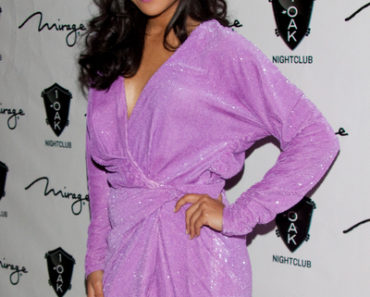 Naya Rivera Celebrates Her 25th Birthday at 1Oak Nightclub in Las Vegas on January 21, 2012