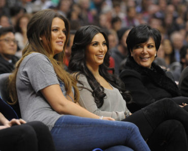 The Kardashians Sighted at the NBA Game Between the Dallas Mavericks and Los Angeles Clippers at the Staples Center in Los Angeles on January 18, 2012