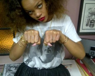 Rihanna New Tattoo Thug Life