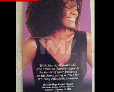 Whitney's Funeral Invite