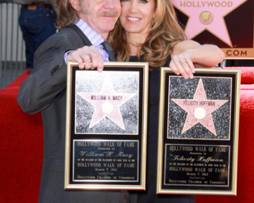 Felicity Huffman and William H. Macy Honored with Stars on the Hollywood Walk of Fame on March 7, 2012