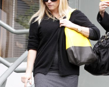 Reese Witherspoon's Baby Bump Peeks Out Under Her Sweater