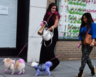"Nicole ""Snooki"" Polizzi and Jenni ""JWoww"" Farley Filming ""Snooki and JWoww Vs. The World"" On Location in Jersey City - March 21, 2012"