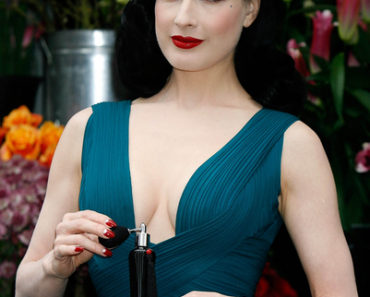 """Dita Von Teese"" Signature Eau de Parfum Fragrance Launch Photocall at Liberty's Store in London on May 1, 2012"