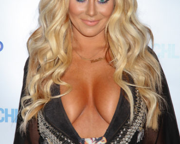 Aubrey O'Day Hosts Rehab Sundays at Hard Rock Hotel and Casino in Las Vegas on June 17, 2012