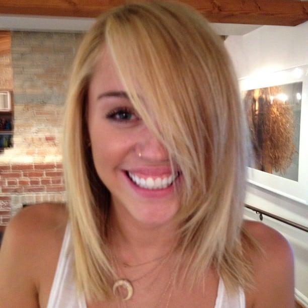 Miley cyrus debuts blonde hair
