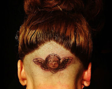 Lady Gaga Tattoo On Shaved Head