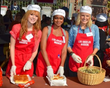 The Los Angeles Mission Thanksgiving Dinner  for Skid Row