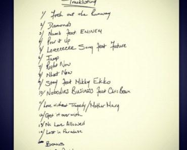 Rihanna tracklist
