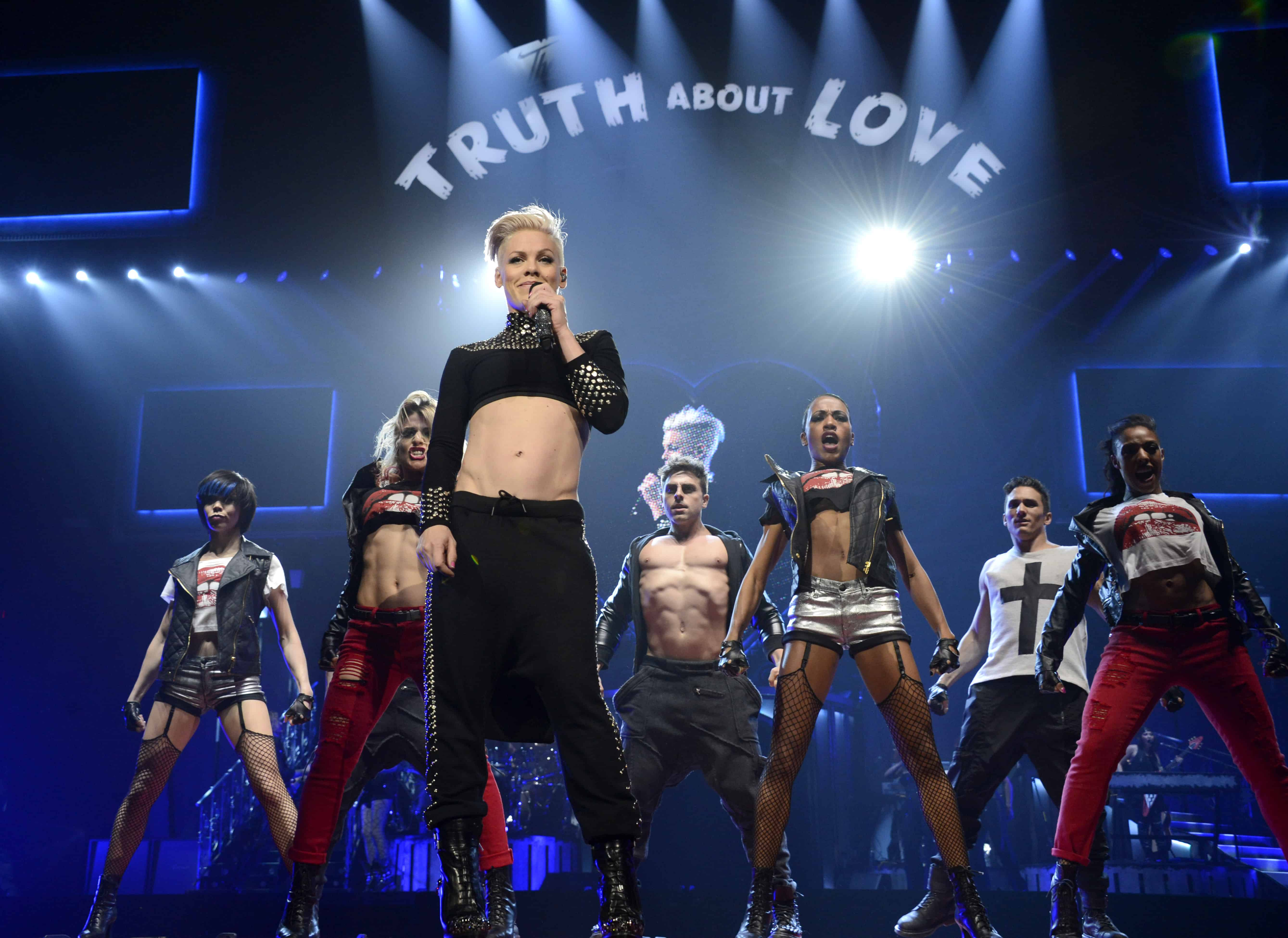 nk Kicks Off Her    The Truth About Love    Tour With a Bang The Truth About Love Tour
