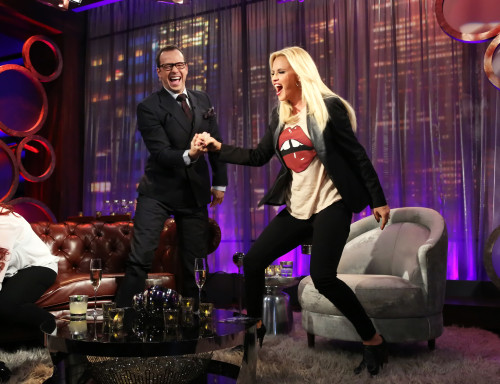 "Donnie Wahlberg appears on the ""Jenny McCarthy Show"""
