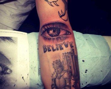 Justin eye tatt