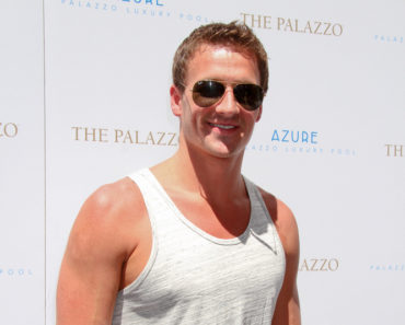 Ryan Lochte Hosts at Azure Luxury Pool in Las Vegas on August 17, 2013