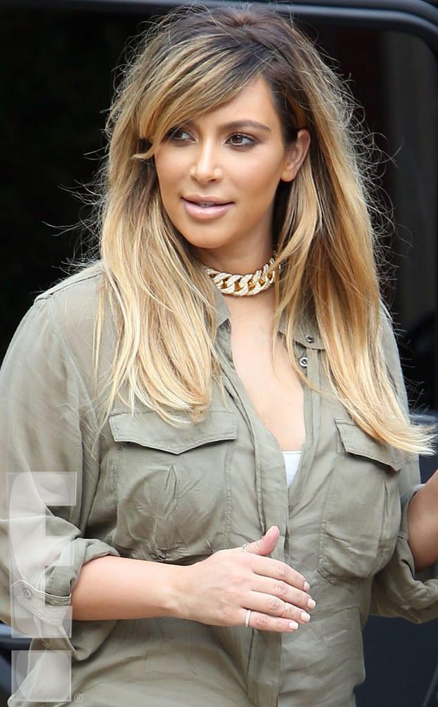 kim kardashian debuts new blonde hair beautelicious