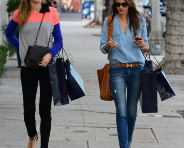 Alessandra Ambrosio and Ana Beatriz Barros Shopping In Beverly Hills - December 17, 2013
