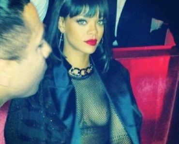 Rihanna Topless At After Party (4)
