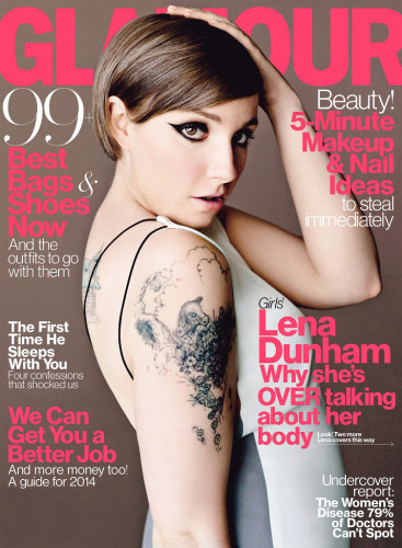 Lena Dunham Interview Glamour Magazine April 2014 367x500 Lena Duham May Quit Acting After Girls Ends?