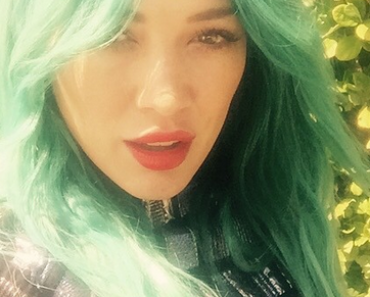 Hilary-green-hair